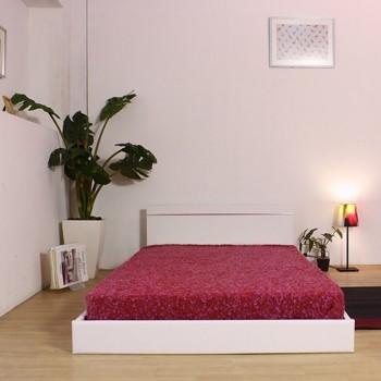 LUGO ルーゴ パネル型ラインデザインフロアベッド フレームのみ 画像