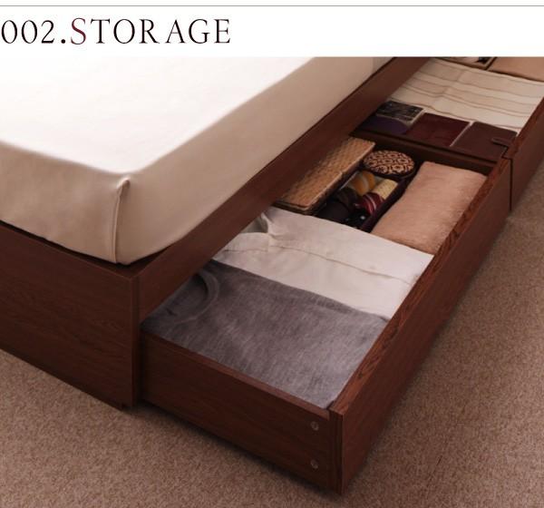 収納ベッド 棚 コンセント付き収納ベッド Sleep エス リープ 画像6