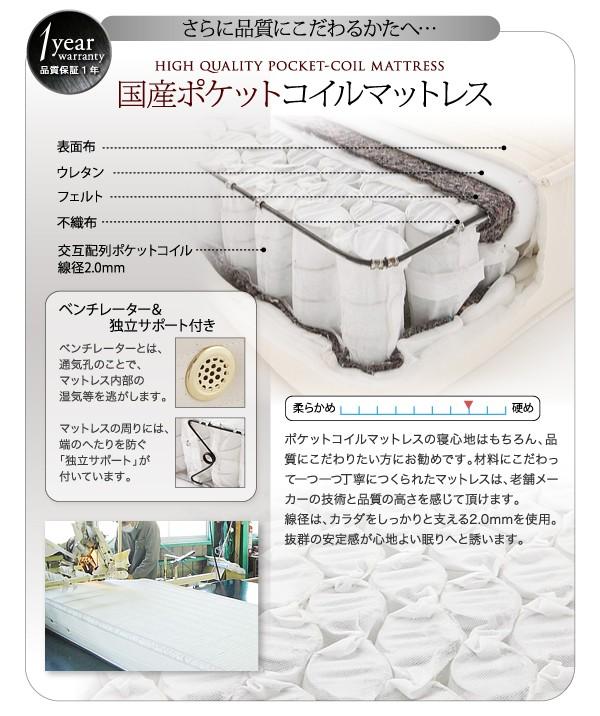 【送料無料】モダンデザインレザーフロアベッド【SOFLE】ソフレ 画像20