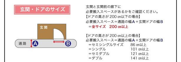 【送料無料】モダンデザインレザーフロアベッド【SOFLE】ソフレ 画像26