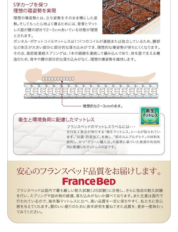 【送料無料】棚・コンセント付き収納ベッド【Umbra】アンブラ 画像15