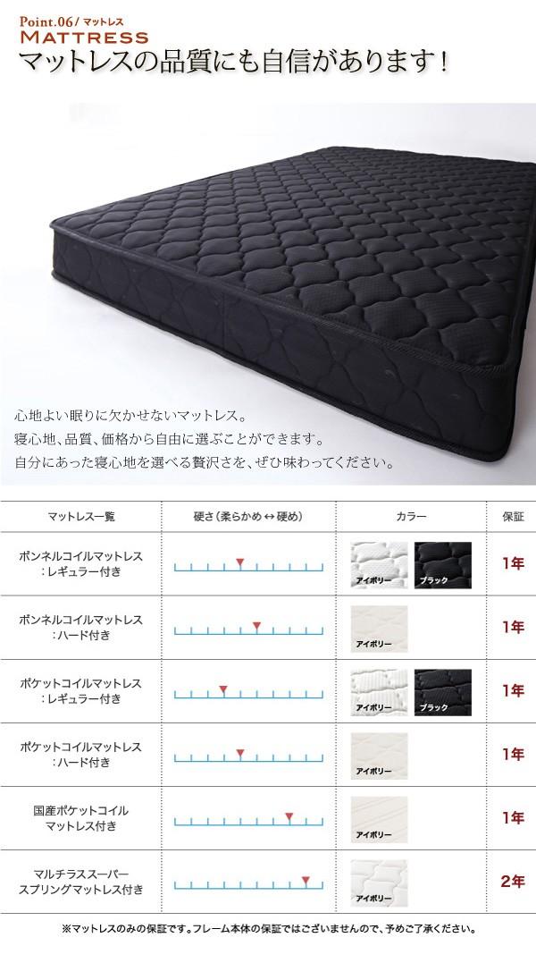 【送料無料】棚・コンセント付き収納ベッド【Umbra】アンブラ 画像7