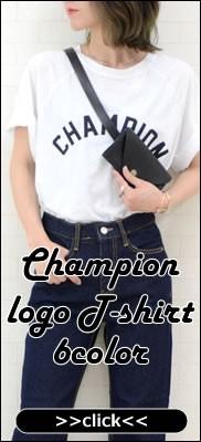 CHAMPIONロゴ♪カットオフ半袖Tシャツ
