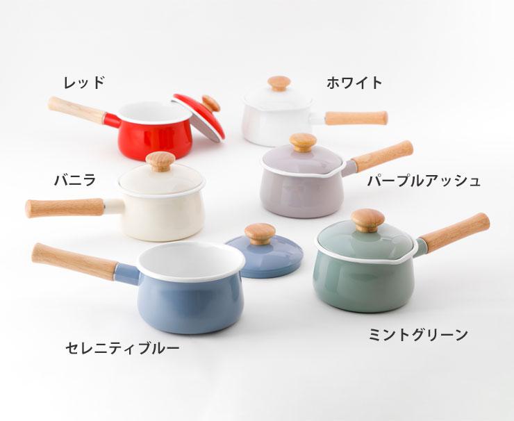 富士ホーロー/ミルクパン/フタ付き