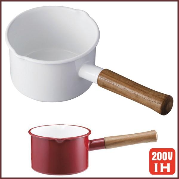 富士ホーロー,ミルクパン,ホーロー鍋,IH対応