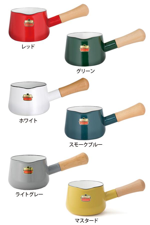 ホーロー,片手鍋12cm,ほうろう鍋