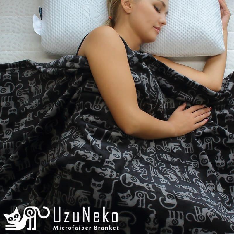 ウズネコ毛布