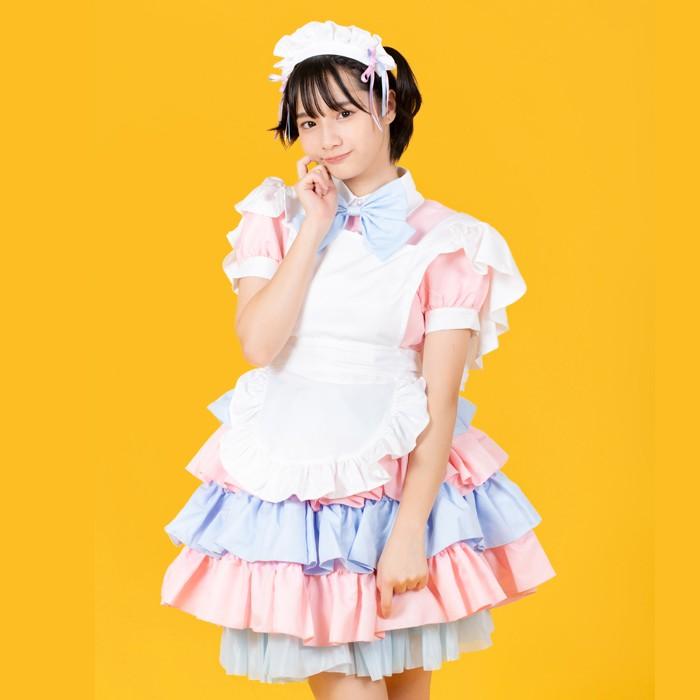 パフェメイドコスプレメイド衣装アリス大人用ロリータM〜2Lサイズあり4色展開4点セットcostume834衣装