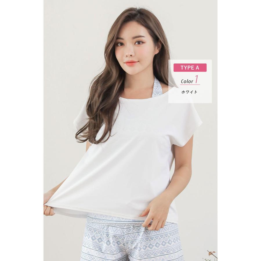 水着 レディース 体型カバー オトナ女子 ラッシュガード オーバーTシャツ Tシャツ 紫外線対策 日焼け対策 UVカット UPF50+ 白 黒|cotaron-shop|23