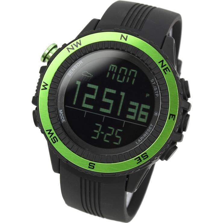 腕時計 メンズ デジタル 時計 温度計 コンパス 気圧計 高度計 アウトドア キャンプ 登山用 courage 09
