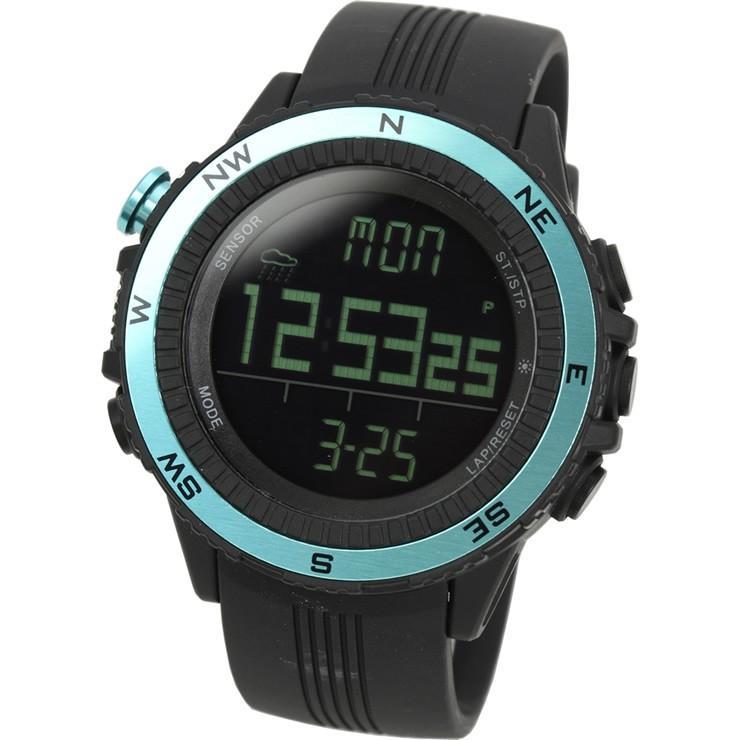 腕時計 メンズ デジタル 時計 温度計 コンパス 気圧計 高度計 アウトドア キャンプ 登山用 courage 13