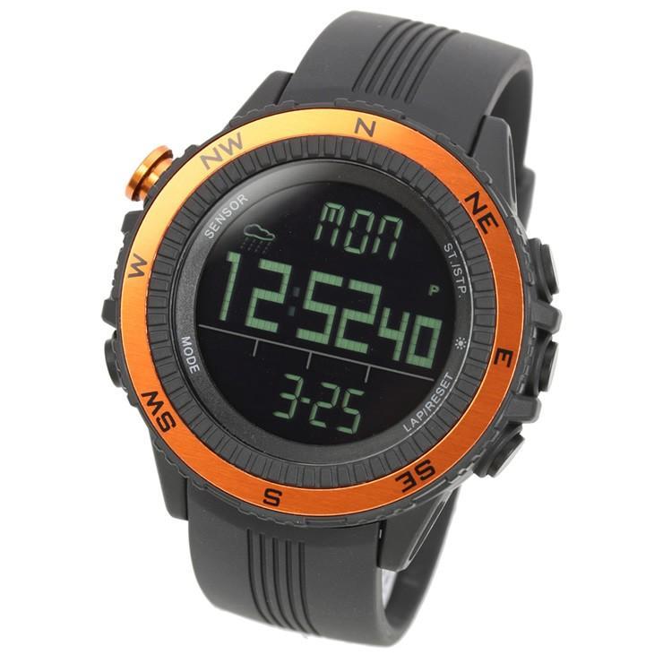 腕時計 メンズ デジタル 時計 温度計 コンパス 気圧計 高度計 アウトドア キャンプ 登山用 courage 11