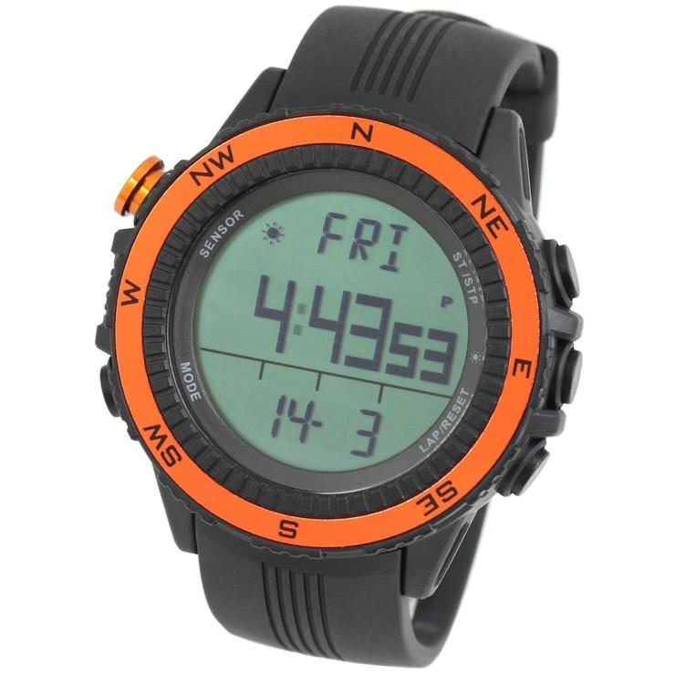 腕時計 メンズ デジタル 時計 温度計 コンパス 気圧計 高度計 アウトドア キャンプ 登山用 courage 12
