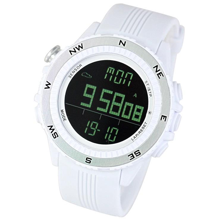 腕時計 メンズ デジタル 時計 温度計 コンパス 気圧計 高度計 アウトドア キャンプ 登山用 courage 15
