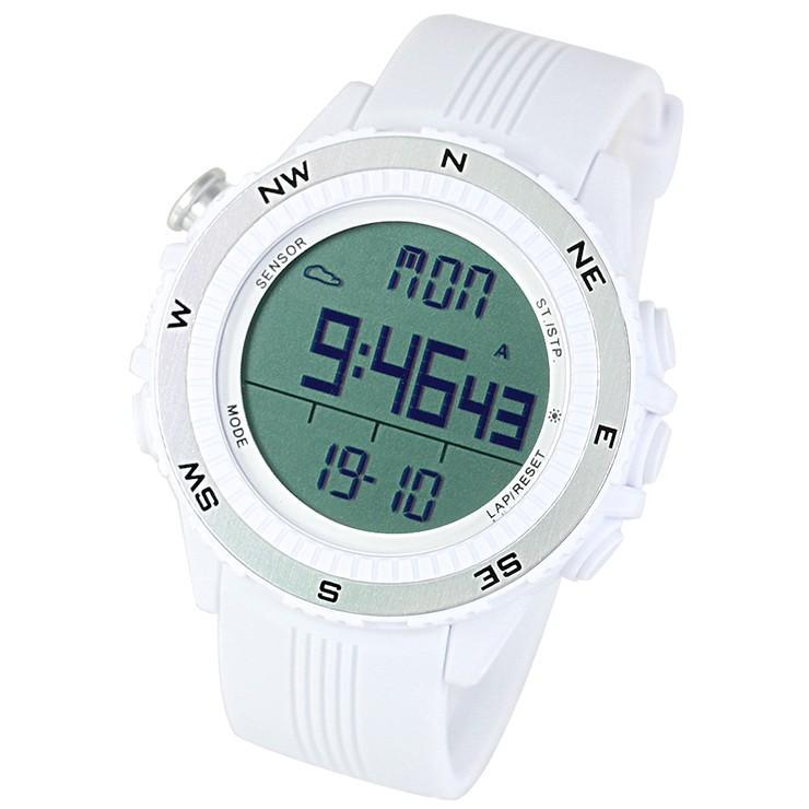 腕時計 メンズ デジタル 時計 温度計 コンパス 気圧計 高度計 アウトドア キャンプ 登山用 courage 16