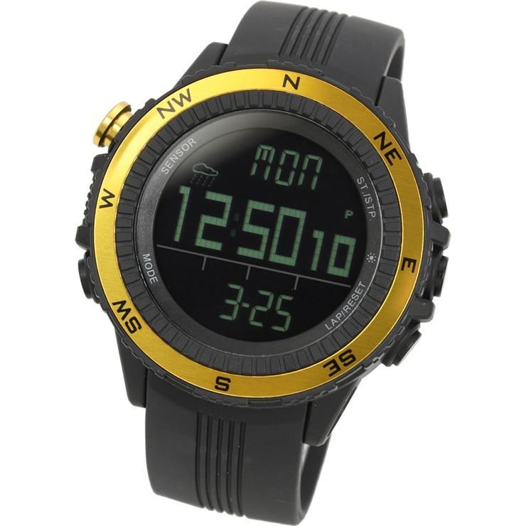 腕時計 メンズ デジタル 時計 温度計 コンパス 気圧計 高度計 アウトドア キャンプ 登山用 courage 14