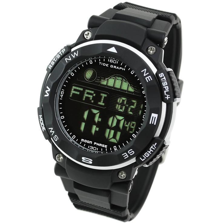 腕時計 メンズ ダイバーズウォッチ スポーツウォッチ 100m 防水 デジタル時計 デジタル 時計 アウトドア 釣り サーフィン|courage|12