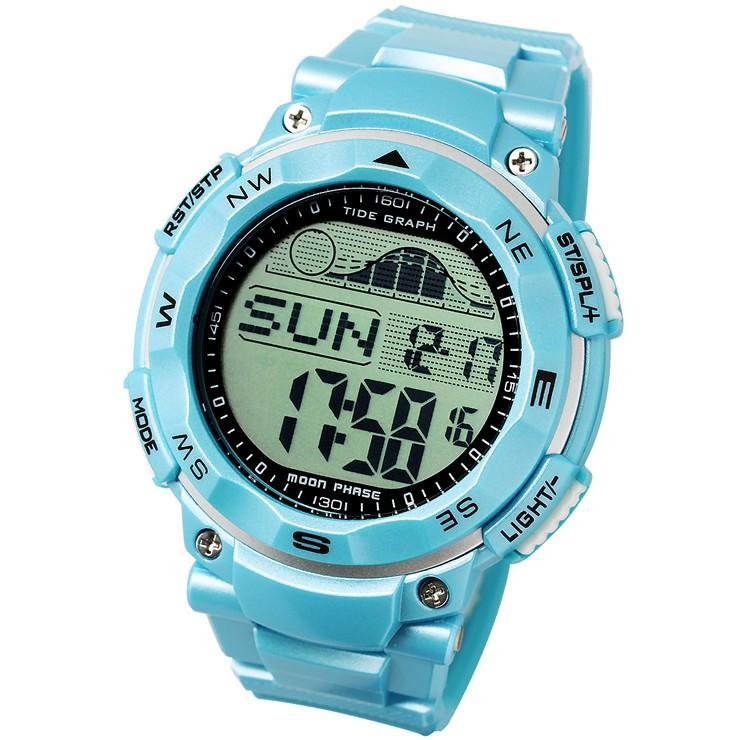 腕時計 メンズ ダイバーズウォッチ スポーツウォッチ 100m 防水 デジタル時計 デジタル 時計 アウトドア 釣り サーフィン|courage|13
