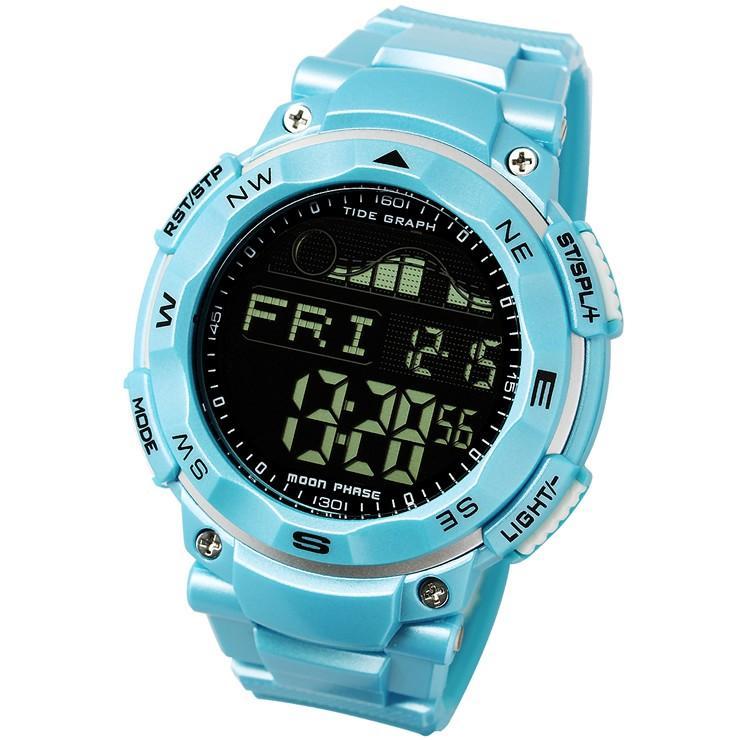 腕時計 メンズ ダイバーズウォッチ スポーツウォッチ 100m 防水 デジタル時計 デジタル 時計 アウトドア 釣り サーフィン|courage|14