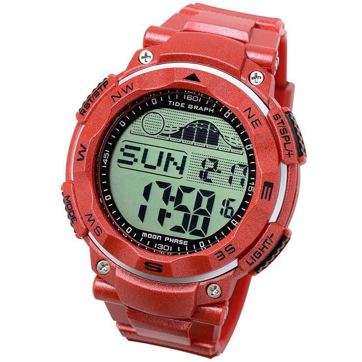 腕時計 メンズ ダイバーズウォッチ スポーツウォッチ 100m 防水 デジタル時計 デジタル 時計 アウトドア 釣り サーフィン|courage|15