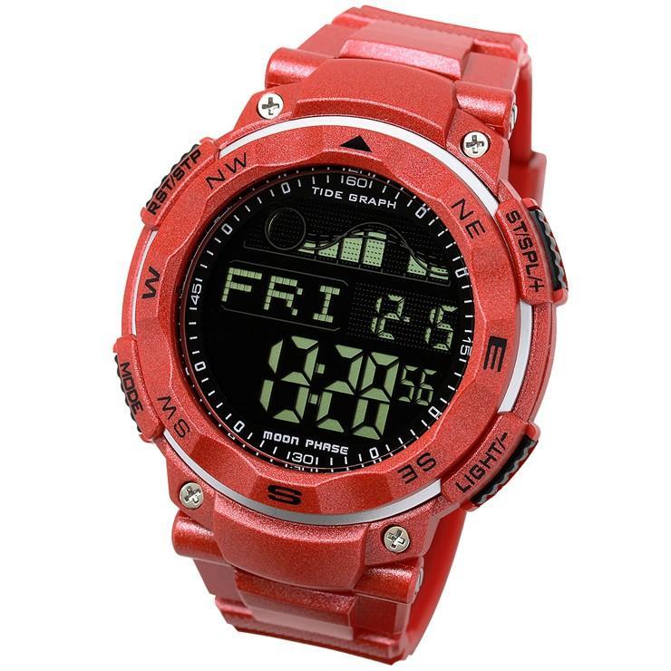 腕時計 メンズ ダイバーズウォッチ スポーツウォッチ 100m 防水 デジタル時計 デジタル 時計 アウトドア 釣り サーフィン|courage|16
