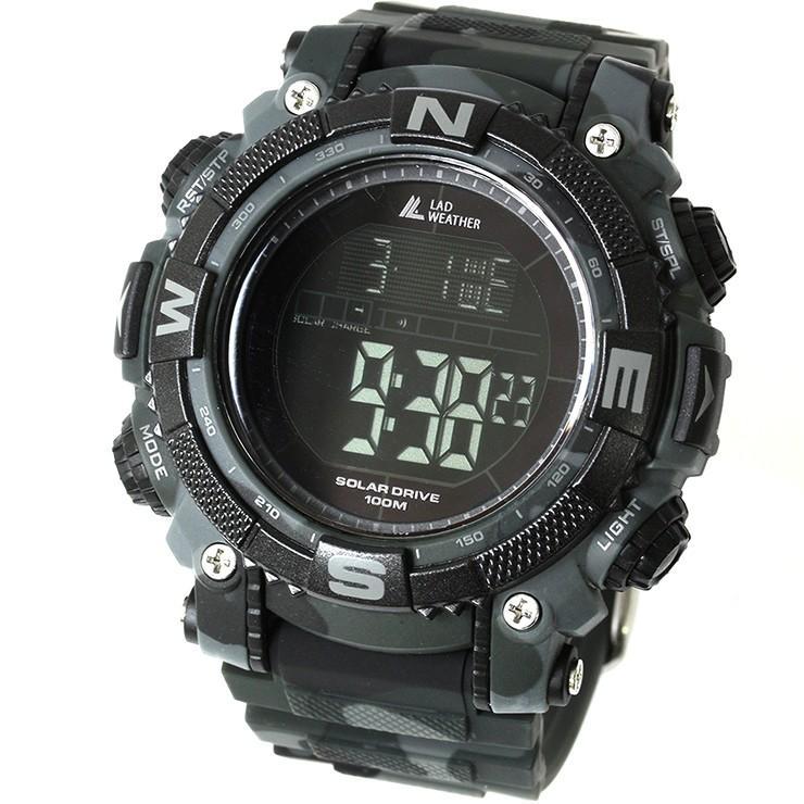 腕時計 メンズ デジタル 時計 ソーラー 100m防水 ミリタリーウォッチ|courage|24