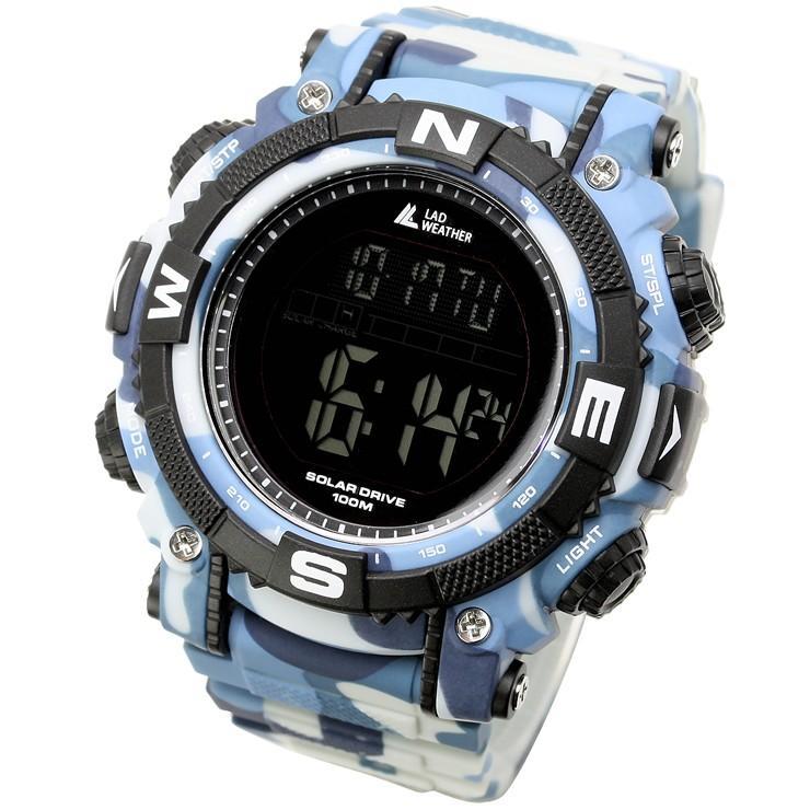 腕時計 メンズ デジタル 時計 ソーラー 100m防水 ミリタリーウォッチ|courage|30