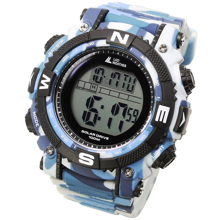 腕時計 メンズ デジタル 時計 ソーラー 100m防水 ミリタリーウォッチ|courage|31