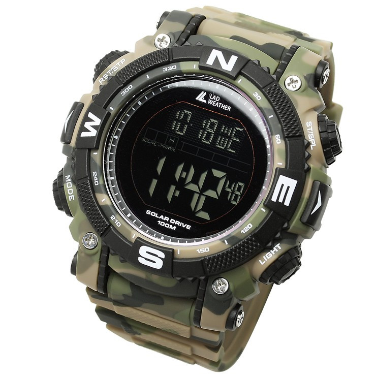 腕時計 メンズ デジタル 時計 ソーラー 100m防水 ミリタリーウォッチ|courage|26