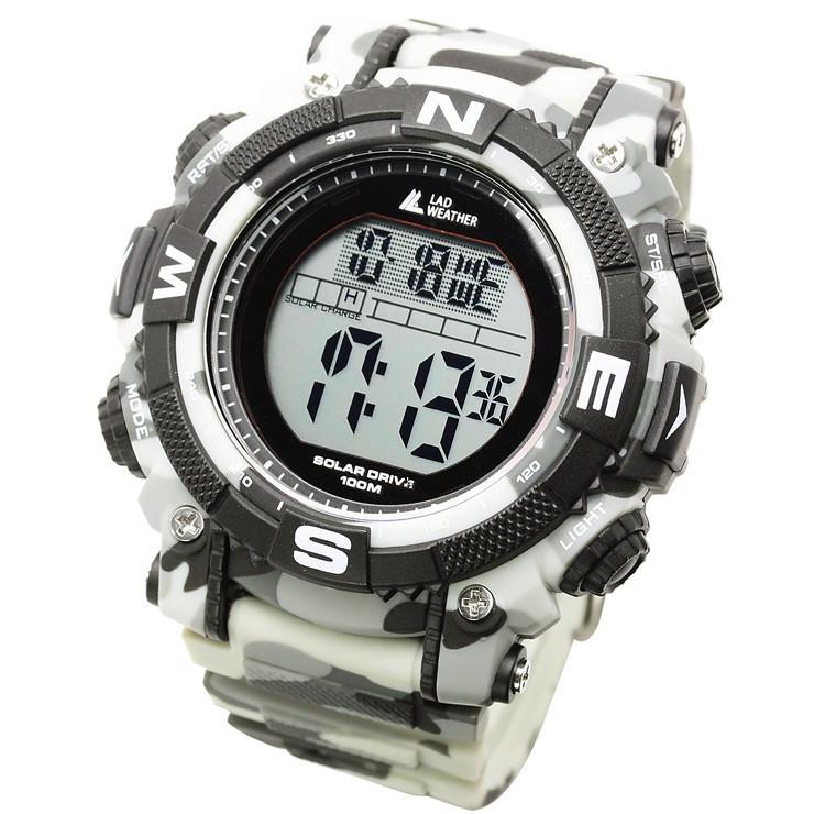 腕時計 メンズ デジタル 時計 ソーラー 100m防水 ミリタリーウォッチ|courage|29