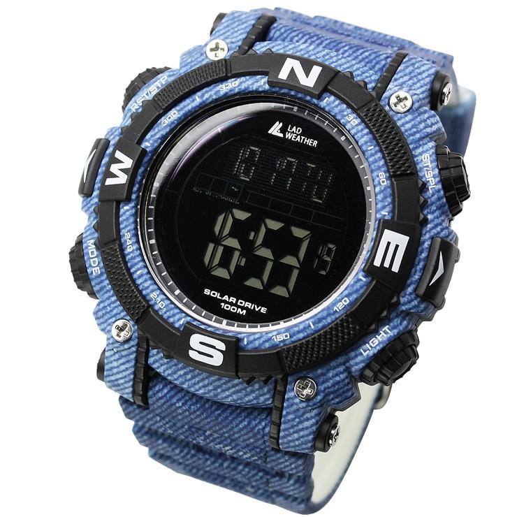 腕時計 メンズ デジタル 時計 ソーラー 100m防水 ミリタリーウォッチ|courage|32