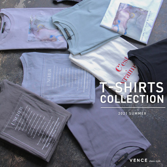VENCE Tシャツコレクション