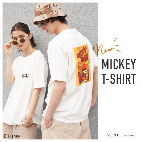 VENCE ミッキーTシャツ