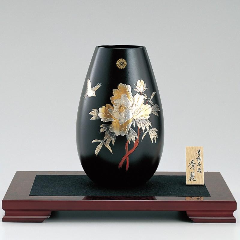 新築 引越し内祝いに高級高岡銅器の花器