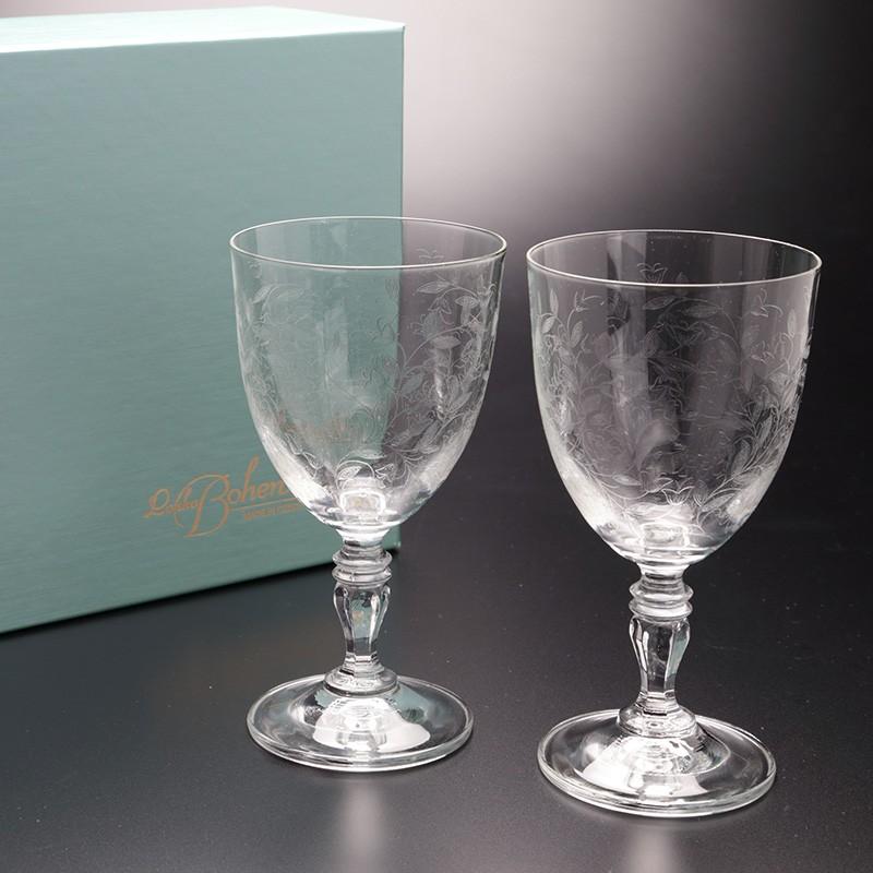 結婚祝いにボヘミアグラス