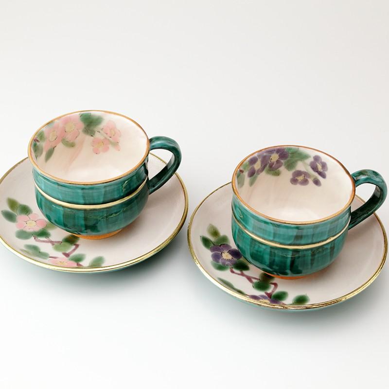 結婚祝いに高級九谷焼ペアコーヒ-