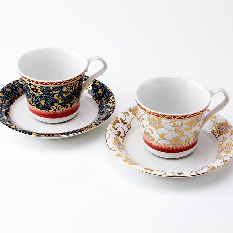 退職記念品に九谷焼ペアコーヒー鉄仙花