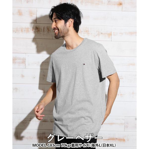 トミーヒルフィガー Tシャツ 半袖 ブランド メンズ クルーネック 丸首 無地 大きいサイズ TOMMY HILFIGER|crazyferret|12