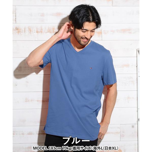 トミーヒルフィガー Tシャツ 半袖 ブランド メンズ カットソー Vネック 無地 大きいサイズ TOMMY HILFIGER|crazyferret|16