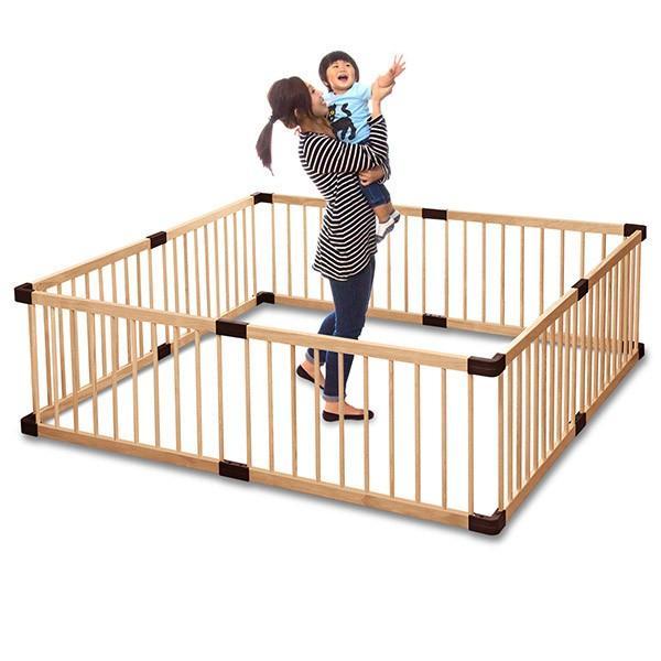 ベビーサークル 木製 子供 赤ちゃん 軽量 柵 囲い 安全 プレイペン 男の子 女の子 簡単 組立 8枚セット RiZkiZ crazyprice 05