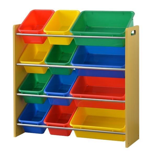 おもちゃ 収納 ラック 4段 子供 子ども トイラック キャスター取り付け可 おもちゃ箱 おしゃれ 収納 箱 安全 トイボックス 木製 送料無料 crazyprice 10