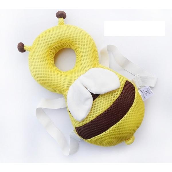 赤ちゃん 転倒防止 ミツバチ リュック 蒸れないメッシュ素材 頭保護 安心 メッシュ素材 出産祝い ベビー用品 ベビー 送料無料|creez|06