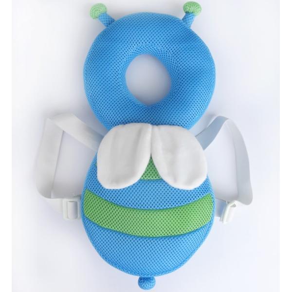 赤ちゃん 転倒防止 ミツバチ リュック 蒸れないメッシュ素材 頭保護 安心 メッシュ素材 出産祝い ベビー用品 ベビー 送料無料|creez|07