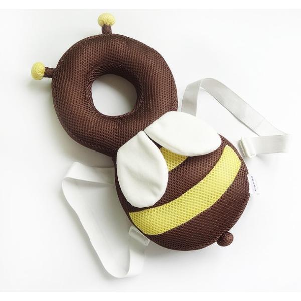 赤ちゃん 転倒防止 ミツバチ リュック 蒸れないメッシュ素材 頭保護 安心 メッシュ素材 出産祝い ベビー用品 ベビー 送料無料|creez|05