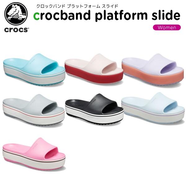 クロックス crocs クロックバンド プラットフォーム スライド