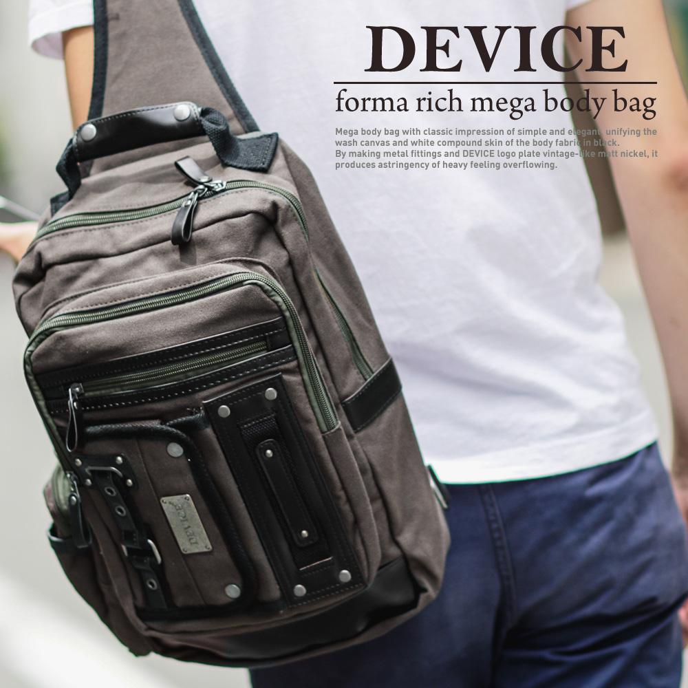 dc11afcda450fd DEVICE フォルマリッチ メガボディバッグ,メンズ,ボディバッグ,ワンショルダーバッグ,