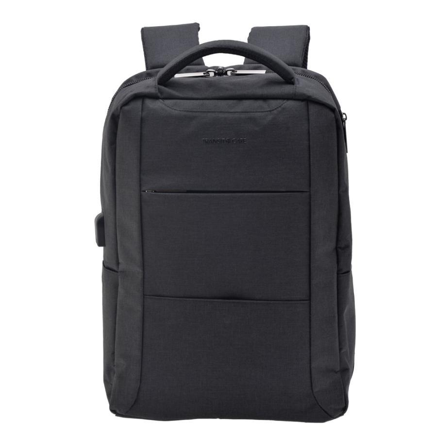 ビジネスリュック メンズ リュックサック バックパック おしゃれ A4 かばん 通勤 通学 ナイロン 軽量 ブラック 黒 バッグ 新生活|crosscharm|17