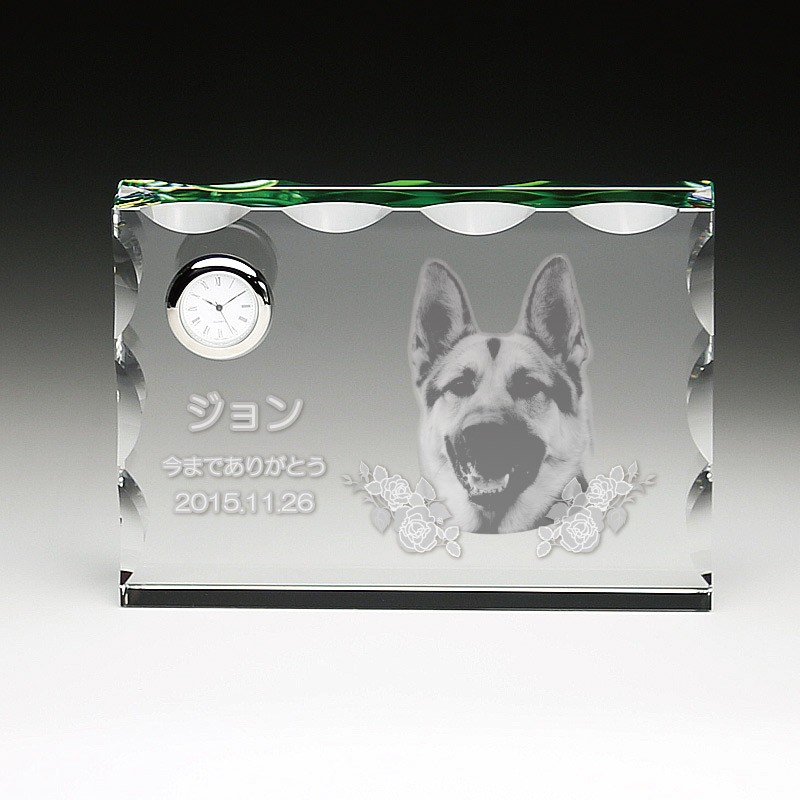 レーザー2D彫刻ペットメモリアルクロック cp-1