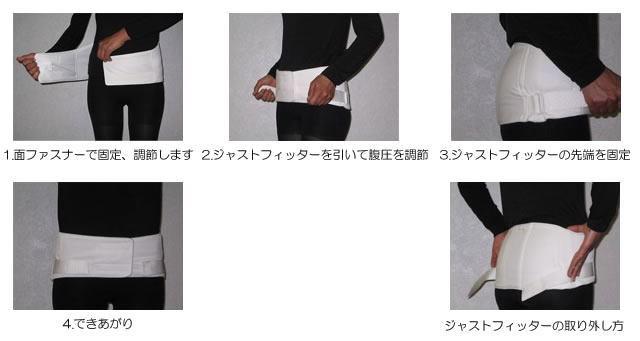 腹圧・骨盤矯正ベルトアセット・プラスの使用方法