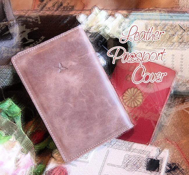 レザー・革製・牛革・本革・パスポートカバー・パスポートケース